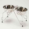 Stainless Steel Double Diner Elevated dog bowls set - by Ethical ALL ON SALE!!