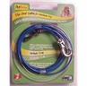 Dogit Pet Tether Tie-out Cable, Medium 10' Blue