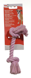 Dogit Pink Cotton Rope Bone, Medium