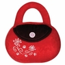 Hagen Dogit Luvz Dog Toys Red / Brown Bag with Flowers
