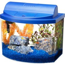 Mini Bow 5 Gallon Bow Front Acrylic Aquarium Kit Blue