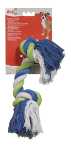 Dogit Striped Cotton Rope Bone, X-Large