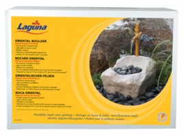 Hagen Laguna Oriental Boulder with Fountain Ornament