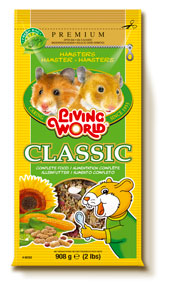 (61045) Living World Premium Hamster Mix, 2 lbs., standup zipper bag