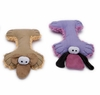 Cuddler Plush Dog Toy - Plush Bone-Buddy Purple or Brown
