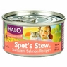 Halo Spots Stew For Cats Succulent Salmon Recipe Canned Cat Food 12 - 5.5 oz Cans