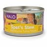 Halo Spots Stew For Cats Wholesome Turkey Recipe Canned Cat Food 12 - 3 oz Cans
