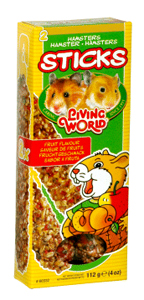 Living World Hamster Fruit Sticks, 4 oz.