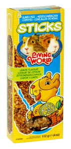 Living World Guinea Pig Lemon Sticks, 4 oz.