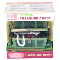 Treasure Chest Action Ornament by Penn Plax