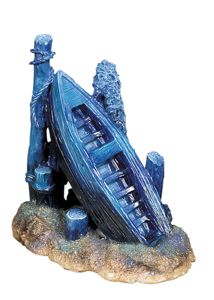Marina Poly-Resin Ornament, Tilted Boat