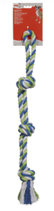 Dogit Striped Cotton 3-Knot Tug 28