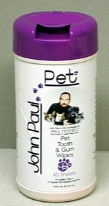 John Paul Pet Pet Tooth and Gum Wipes