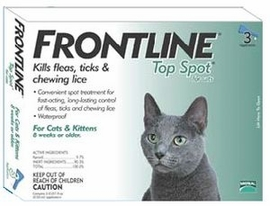 Frontline Top Spot for Cats and Kittens 3 Month Supply GREEN