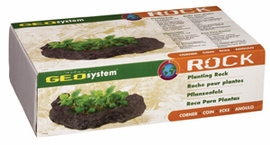 "Geo System Planting Rocks Corner Angle (left and/or right), 14""x7.5""x3.5"""