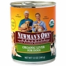 Newman's Own Organics Liver Dog 12 / 12 oz Can