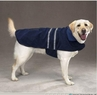 Dog Smart XL Navy Jacket Ecru Piping 22 inch