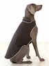 Dog Smart XXL Brown Jacket Ecru Piping 26 inch