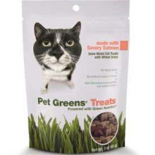 Bell Rock Growers Treat Cat Greens Salmon 3 oz