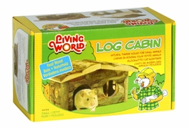Living World Wooden Log Cabin, Small