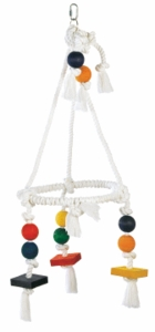 Living World Jumbo Wood & Rope Chandelier
