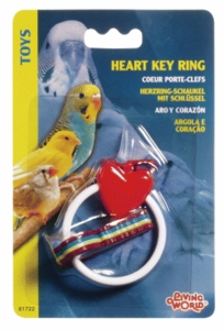 (B1722) Living World Heart Key Ring