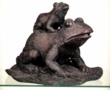 Hagen Pond Twin Frogs Spitter, Bronze Color