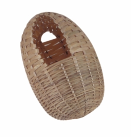 "(B1975) Living World Bamboo Finch Nest, Large 6"" x 5"""