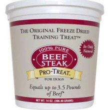 Gimborn Treat Freeze Dried Beef Steak 14 oz
