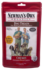 Newmans Own Organics Chicken Dog Treats for Medium to Large Dogs 10 oz bag