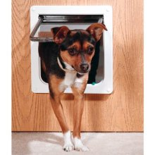 Ani Mate Door 4Way Lock Dog Small White