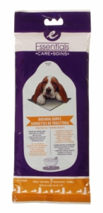 Essentials Bathing Wipes for dogs, 7-pack