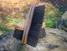 "8 1/4"" Curved Back Style Stiff Mud Brush with Natural Fibers"