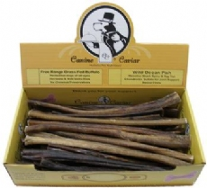 Canine Caviar Treat Buffalo Stix 12 inch 50 Piece