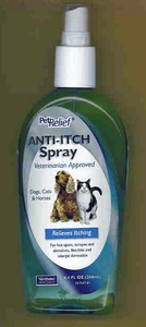 Pet Relief Anti-Itch Spray 8.4oz for Dogs, Cats & Horses by Virbac