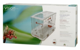 "Vision Large Bird Cage #L11, 31""x17""x22"", Large Wire, Single Height, Terracotta Perches & Food/Water Dishes"
