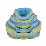 Pet Bed Blue and Green Plaid Round Bed Small 18inch