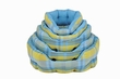 Pet Bed Blue and Green Plaid Round Bed Extra Large 29inch