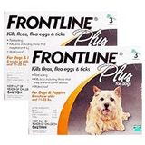Frontline Plus Flea & Tick For Dogs 11 to 22 lbs. ORANGE, 3 Month Supply