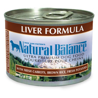Natural Balance Liver Formula Canned Dog Food 12 / 6 oz Cans