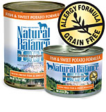 Natural Balance Canned Dog Food - Fish and Sweet Potato 12 / 6 oz Cans