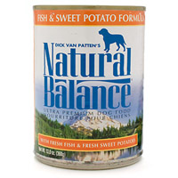 Natural Balance Fish and Sweet Potato Formula Canned Dog Food 12 / 13 oz Cans