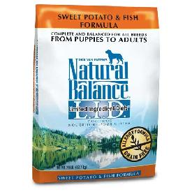 Natural Balance Sweet Potato and Fish Dry Dog Food Formula 28 Lb Bag