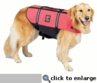 Large Outward Hound Pet Saver Life Jacket Pink