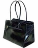 Shiny Black Purse Style Pet Carrier