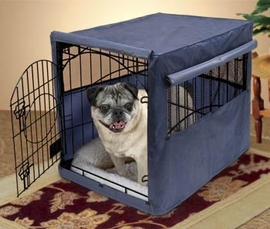 Home-Zone Dog Crate Cover Fits Dog 48 X 30 X 33 Cage Khaki Green Bone Pattern
