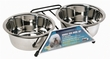 Dogit Stainless Steel Double Dog Diner, Medium