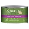 By Nature Natural 95% Meat Beef and Liver Formula Canned Cat Food 12/6-oz cans.