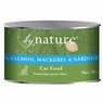 By Nature Natural 95% Meat Salmon, Mackrel and Sardines Formula Canned Cat Food 12/6-oz cans