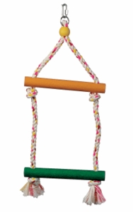 "(B1101) Junglewood 2-Step Rope Ladder, Small, 8"" x 17"""